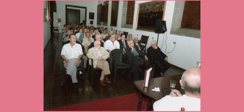 Presentación del libro Fray Vicente Peraza, Museo de Arte Sacro, Las Palmas de Gran Canaria, 14 de junio de 2007.